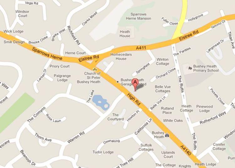Bushey Heath Map